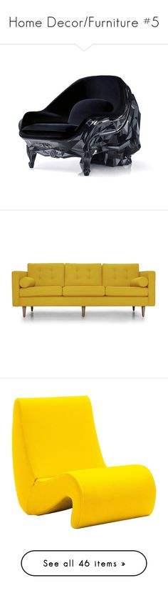 """Home Decor/Furniture #5"" by xgingerlovex ❤ liked on Polyvore featuring home, home decor, furniture, sofas, yellow, mid-century modern furniture, mid century leather couch, mid century modern furniture, leather sofa and leather couch"