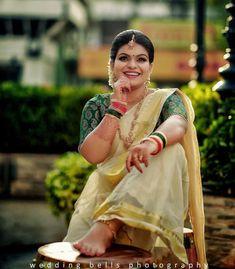 Wedding Bells, Wedding Day, Kerala Bride, Kerala Saree, Bridal Beauty, Sari, India, Brides, How To Wear