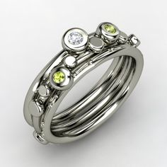 Peridot is my birthstone. Hated it as a kid, but love it now. #ring