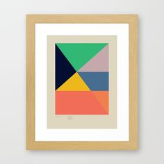 Secret Surf Map 5 — Matthew Korbel-Bowers Framed Art Print