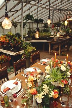 #al-fresco, #dinner-party, #greenhouse  Greer Inez: Photography - greerinez.com Event Styling: Gibson Events - gibsonevents.com
