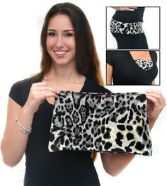Multi-use Camiband comes in stretch lace,solid spandex and Lavish Leopard print