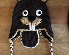 Justin the Beaver Hat with Tail. Made to Order. by CozyHat on Etsy