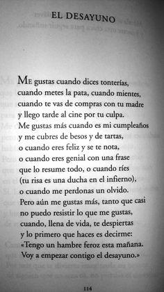 """""""El desayuno"""", un poema de Luis Alberto de Cuenca."""