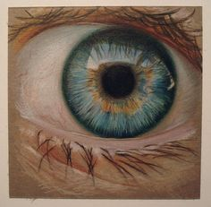 EYE by Lizz Conley (colored pencil)