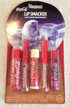 Lip Smacker Coca Cola 5 Lip Balm Lip Gloss Set • Assorted Soda Flavors NIP | eBay