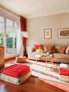 The Downside Risk Of Best And Eye Popping Red Living Room Color Schemes 20 - casitaandmanor Red Living Room Decor, Beige Living Rooms, Indian Living Rooms, Living Room Color Schemes, Beautiful Living Rooms, Living Room Colors, Living Room Sofa, Living Room Designs, Transitional Living Rooms