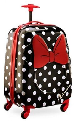 97a3f2da9905 Disney Minnie Mouse Rolling Luggage Carry on 21 Kids Travel Suitcase