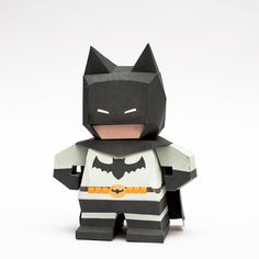 Chibi Batman Papercraft Model Free Printable Template