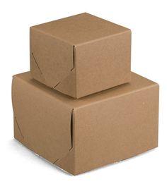 BW443 - Lock Corner Brown Kraft Gift Boxes 4 x 4 x 3   $42 for 100 pcs (50)