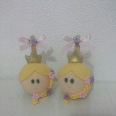 Maçã decorada Rapunzel Disney