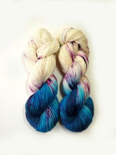 Hand Dyed Sock Yarn Superwash Merino Nylon by TheSheepyshire