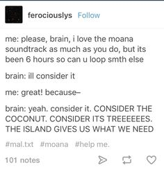 Moana CONSIDER THE COCONUT