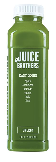 Easy Going -  Cold pressed Juice.  Get your daily dose of green, while enjoying the sweetness of apple. This juice is seriously easy going.  =   apple, cucumber, spinach, celery, kale, lime  +   energy, vitality, lower blood pressure  420 ML