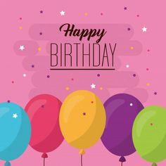 Happy Birthday Ballons, Free Happy Birthday Cards, Birthday Tags, Happy Birthday Messages, Happy Birthday Images, Birthday Fun, Happy Birthdays, Birthday Stuff, Birthday Wishes Greetings