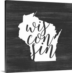 Great Big Canvas 'Home State Typography Wisconsin' Inner Circle Graphic Art Print Format: White Frame, Size: H x W x D Acrylic Wall Art, Canvas Wall Art, Wall Art Prints, Poster Prints, Canvas Prints, Big Canvas, Framed Prints, Circle Canvas, Wolf Canvas