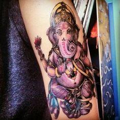 ganesha, done by courtney raimondi at dakota ink tattoo
