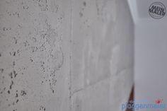 Gestaltung eines Arbeitsbereichs in Rost- und Betonoptik Bremen Painting Contractors, Bremen, Chair, Wall Design