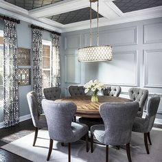 classy and luxurious dining … | Transitional Dining Room Inspo ...
