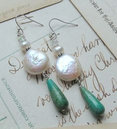 Rustic Elegance / FWCoin Pearls, Turquoise, Crystals