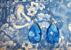 Dazzling Pair Antique Blue Teardrop Crystals by AntiquesandVaria, $22.20 these came from the best sale e-v-e-r, we did it for two days, a thrill a minute.  Our etsy shops: http://www.etsy.com/shop/artdesignsbydanielle http://www.etsy.com/shop/AntiquesandVaria http://www.etsy.com/shop/IndustrialPlanet  http://www.etsy.com/shop/ArtEphemeraButtons http://www.etsy.com/shop/TheraputicEssentials http://www.etsy.com/shop/AncientHillsWood
