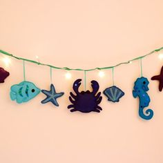 Under the Sea string lights fairy lights by ButtonOwlBoutique, £26.00