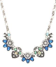 Another great find on #zulily! Blue Crystal Nelia Statement Necklace #zulilyfinds