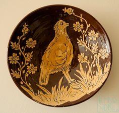 Plato de cerámica de Cuerva. Alfar Mariano Gómez Pina