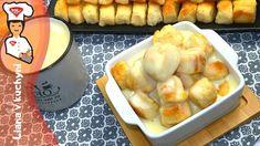 Bezlepkové dukátové buchtičky preliate vanilkovým krémom Dairy, Cheese, Food, Per Diem, Meals, Yemek, Eten