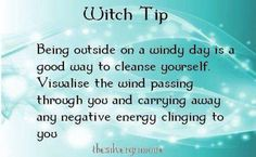 Witch tip. Wind. Air. Cleansing