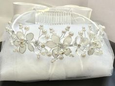 First Communion Bridal Pageant Flower Girl Tiara by myfamillystore