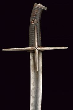 Sword & Noun A weapon consisting typically of a long, straight or slightly curved, pointed. Saber Sword, Sword Hilt, Swords And Daggers, Knives And Swords, Serpentina, Second Empire, Renaissance, Arm Armor, Military Weapons