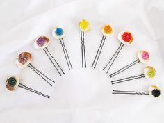seashell hair pin, sea shell hair pin, rainbow, beach hair pins, mermaid hair pin, mermaid wedding, mermaid bobby pin, beach hairpins, beach de FamDdaear en Etsy