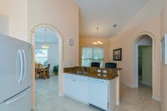 Updated kitchen with granite counters, tiled backsplash and all new appliances