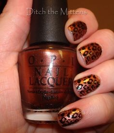 """OPI """"Brisbane Bronze"""". I want to learn to do the spots!!"""