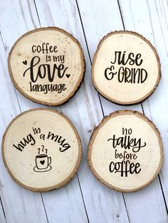 60 Ideas Wood Burning Ideas Coasters Gifts For 2019 Wood Slice Crafts, Wood Burning Crafts, Wood Burning Patterns, Wood Burning Art, Wooden Crafts, Wooden Diy, Coffee Coasters, Diy Coasters, Wooden Coasters