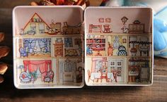 House Shape Tea Box Container Candy Cookie Storage Case Newest Tin Jewelry Gift   Home & Garden, Household Supplies & Cleaning, Home Organization   eBay!