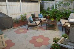 Back Patio Space is great for grilling and relaxing in privacy