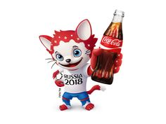 One of pretindentov on the mascot for the football FIFA World Cup 2018