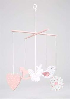 Girls Decorative Wooden Mobile