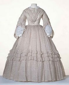 "Late 1850's / early 1860's ""sheer"" dress."