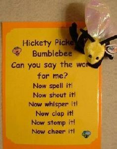"""Cute to write the words on bees and put in bag and play """"time to pass the sight word bag"""""""