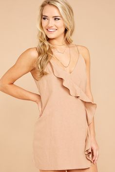Flirty And Chic Tan Romper Playsuits, Modeling, Cold Shoulder Dress, Rompers, Glamour, Chic, My Style, Clothes, Shopping