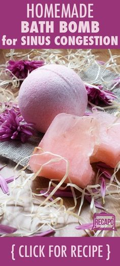 A clinical research manager shared a home remedy for sinus congestion. You can use natural household ingredients to make this Bath Bomb recipe.