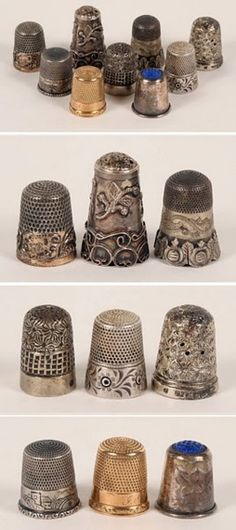 Wow! These elegant, vintage thimbles would make an amazing display!