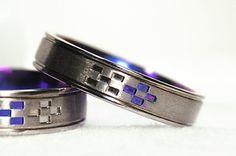 $2300 沖縄結婚指輪 鮮やかなチタンブルー レディース