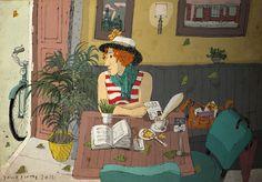 #DavidPintor #lifestyle #illustration #travelillustration #travel #coffeebreak #daydreaming #lindgrensmith