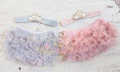 Set-Baby Crown Headband And Ruffle Bloomer by OoSweetCharlotteoO