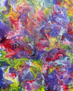 Flow - Abstract Art - Acrylicmind.com is my site. Painting is a passion, an addiction that will not be easily overthrown. ~ Eric Siebenthal