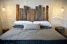 Ou esta cabeceira rústica, para dormir satisfeito com seu bom gosto. | 14 apartamentos minimalistas que vão te fazer sentir coisas